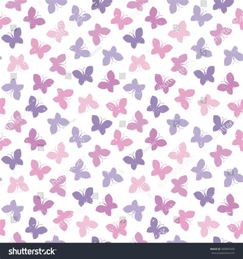 butterfly pattern pretty pink purple pack of gift tags seamless vector background butterflies light purple stock