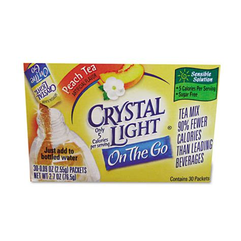 crystal light water flavor packets cry79700 crystal light flavored drink mix zuma