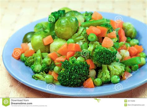 vegetables only diet boiled vegetables for diet stock photo image 20776290