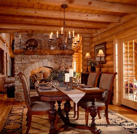 home design elements llc log home tysinger traditional dining room other
