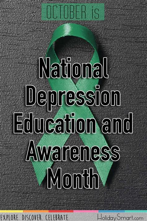 national depression education awareness month holiday smart