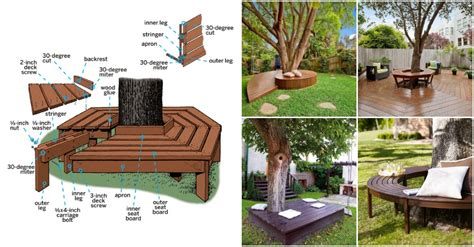 how to make a bench around a tree how to build a bench around the tree in your yard