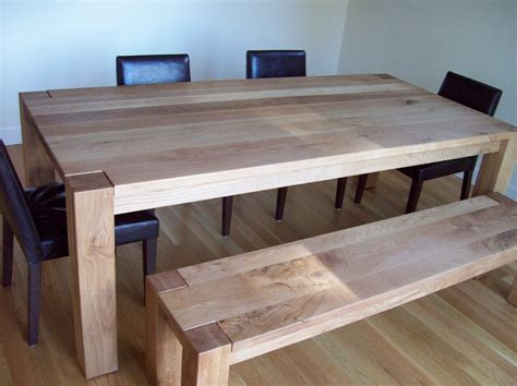 white oak bench white oak dining table and bench by j lumberjocks com woodworking community