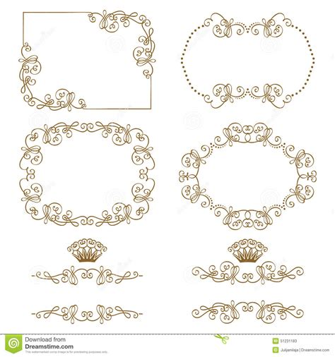 border decorative vintage elements border gothic ornament decorative vintage elements for