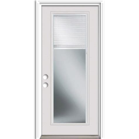 36 Exterior Door With Window Shop Reliabilt Insulating Blinds Between The Glass Lite Right Inswing