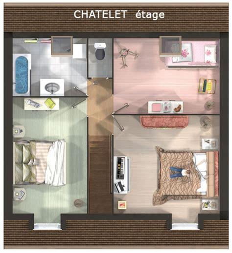 Modele Salle De Bains 1295 by Mod 232 Le Et Plans Chatelet Du Constructeur Maisons Deal