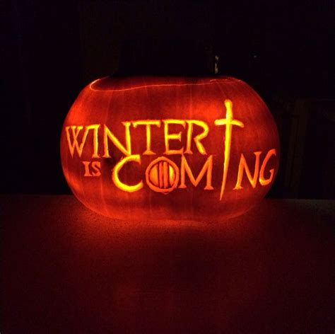 pumpkin carving games game of thrones pumpkin carving winter is coming