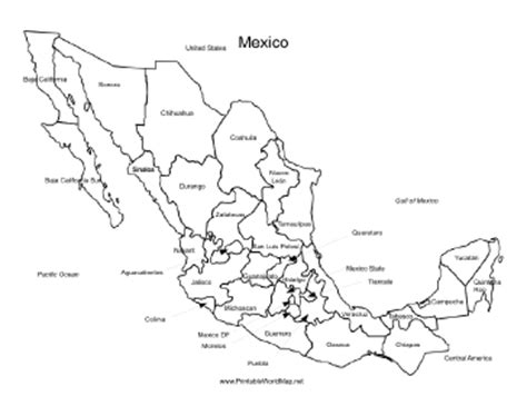 map of mexico printable mexico map
