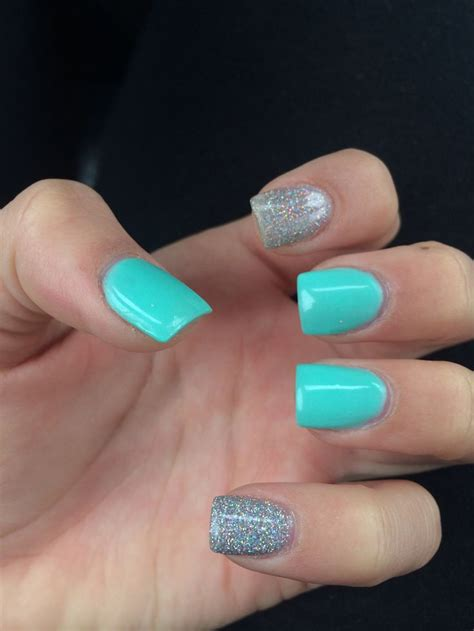 Acrylic Nail Teal Acrylic Nails Acrylic Nails Color Combos Colors And Acrylics