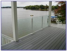 Glass Patio Railing Systems by Glass Deck Railing Systems Decks Home Decorating Ideas