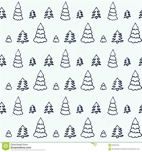 pattern simple cute simple cartoon seamless patterns with cute trees stock
