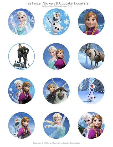 printable frozen characters frozen party free printables invitations stickers
