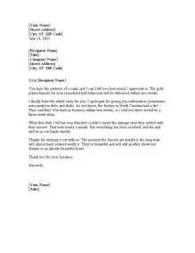 letter to customer explaining shipping delays for
