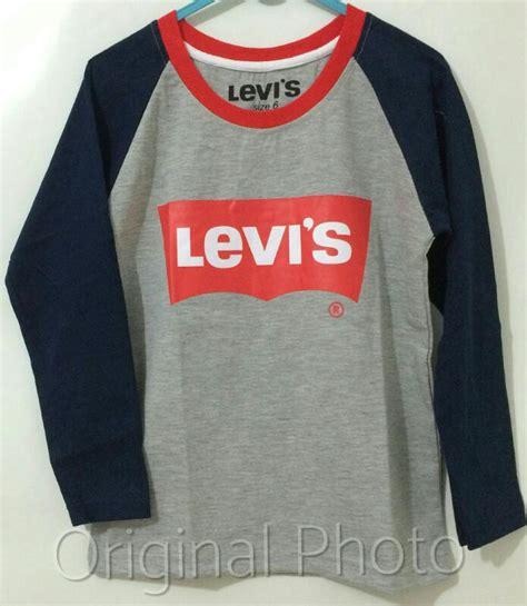 Baju Levis Kodok Anak levis lengan panjang abu 1 6 levis grosir eceran baju anak murah berkualitas