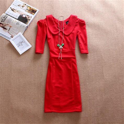Mch Brukat Dress Merah Dress Natal baju dress murah dan cantik rachael edwards