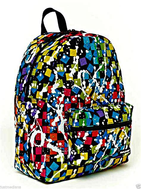 colorful backpacks yak pak s classic backpack colorful squares paint