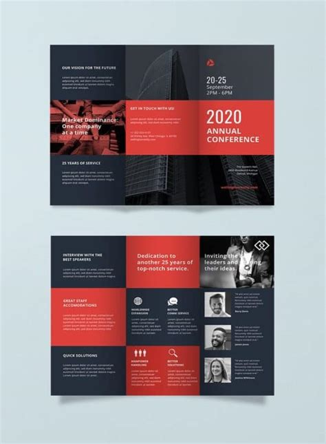 Conference Brochure Template by 20 Free Ready Made Brochure Templates For Your Projects
