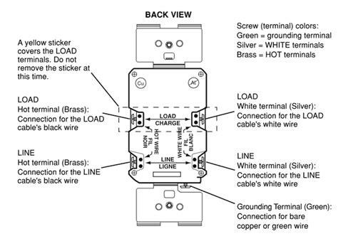 wiring a gfci outlet how to wire line and load schematics