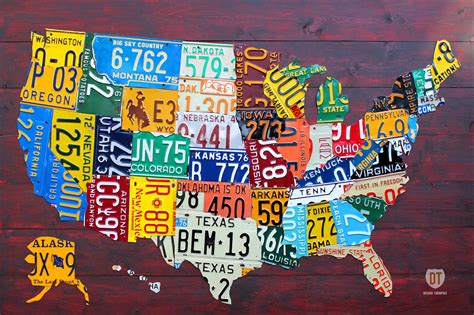 cool map of usa purchase usa license plate maps by design turnpike