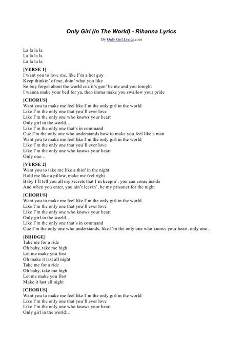 in lyrics rihanna only lyrics