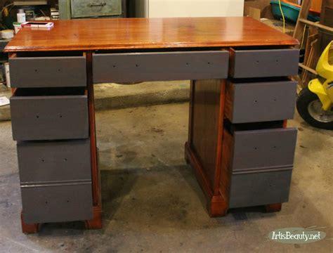 spray paint queenstown desk transformation w queenstown gray milk paint