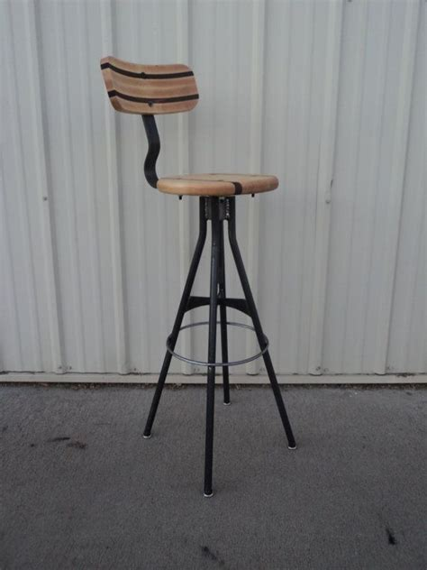 drafting bar stool wood and steel bar stool adjustable drafting style