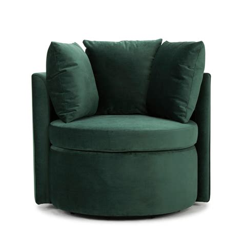 swivel  chair forest green    trend