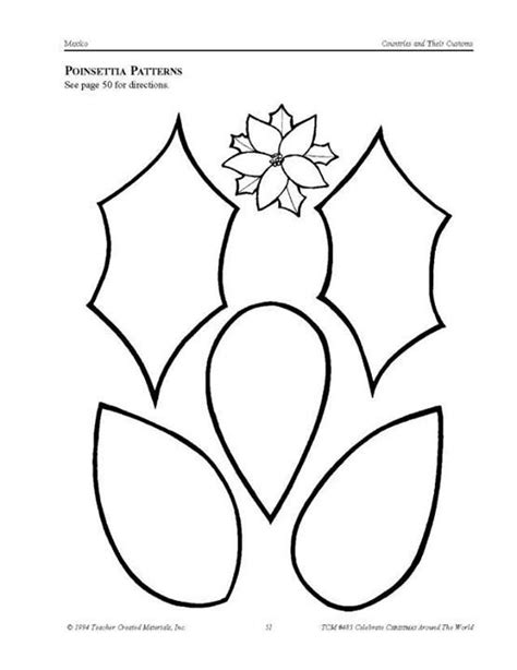 poinsettia template poinsettia template 2 2 templates patterns