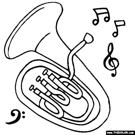 Euphonium Coloring Page   the gallery for gt euphonium clipart