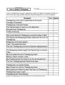 fact or opinion checkmark worksheets to print