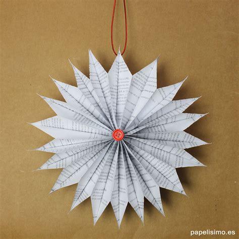 como hacer adornos navide os en casa adornos navide 241 os de papel de peri 243 dico papelisimo