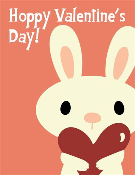 valentines day rabbit bunny valentines day card