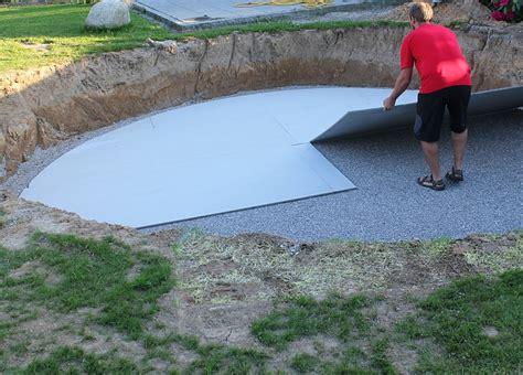Pool Untergrund Platten by Presse