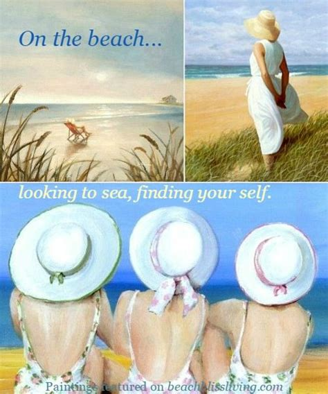 nail the beach with art beach bliss living dreamy paintings of women on the beach looking to sea