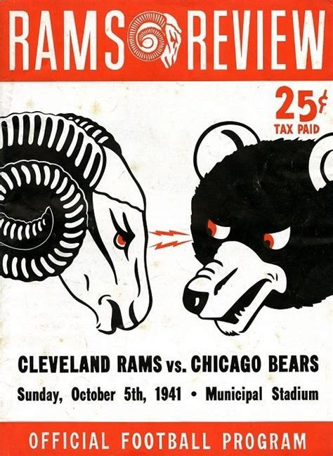 rams cleveland 17 best images about chicago bears vintage on