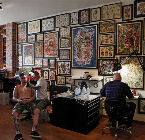 the tattoo shop a popular with foreigners the new