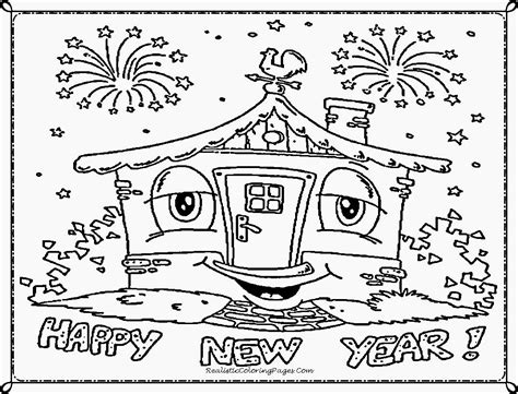 coloring pages for new year new year s coloring sheets coloring pages