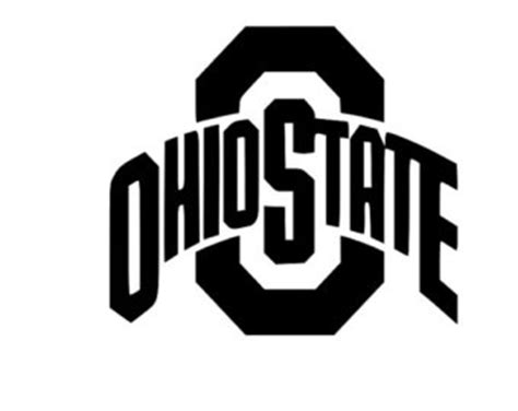 Ohio State Logo Outline by Ohio State Decal Etsy