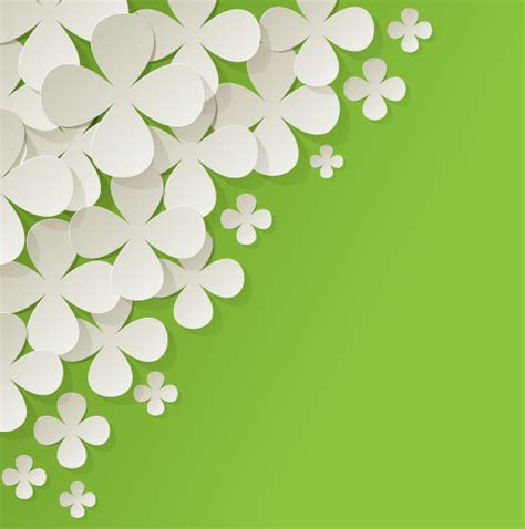 flower design using colored paper white paper flower with colored background vector 02