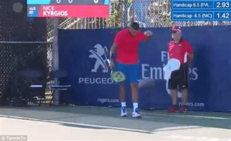 Didn T Get After Nyu Mba by Nick Kyrgios Throws Towel At Line Judge By Mistake Daily