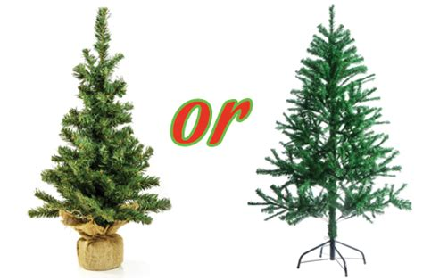 artificial or live environmentally responsible christmas