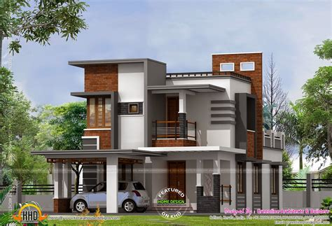 contemporary home design plans low cost contemporary house house elevation indian