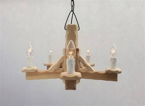 Rustic Ceiling Lights Uk Rustic 4 Light Pine Wooden Ceiling Pendant Light