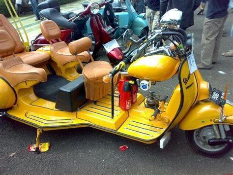 modifikasi motor vespa indonesia foto modifikasi vespa gembel keren unik nyentrik variasi