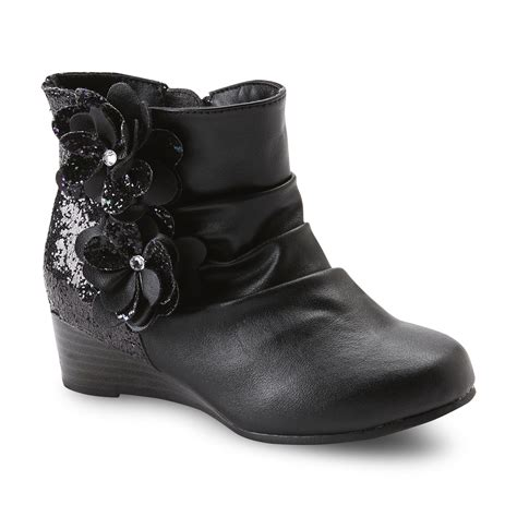 Boots Fashion Ad An 30 Wedges Hitam glitter wedge boot fashion forward styles at kmart