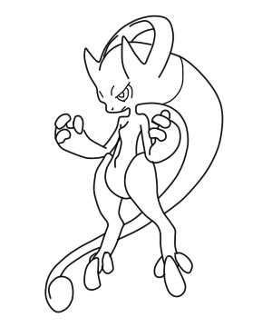 Mega Mewtwo Y Coloring Pages by Mega Mewtwo Y Coloring Pages
