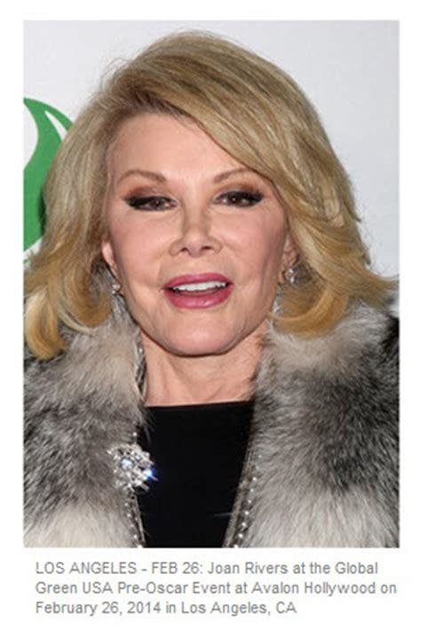 Joan Rivers Mourns The Passing Of by Saying Goodbye To Joan Rivers 81 Years Daily