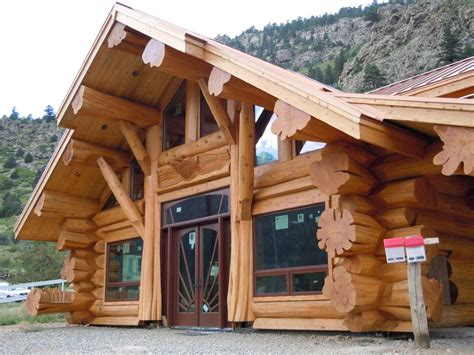 handcrafted western cedar log home colorado usa
