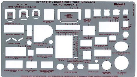 furniture design templates pickett 111pi house furniture interior design drafting