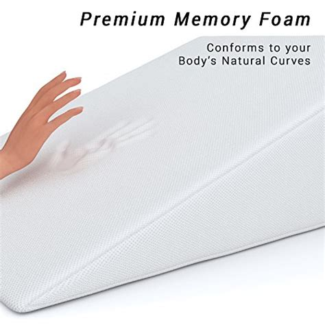 memory foam long bed wedge pillow from usa fitplus bed wedge premium pillow 1 5 inches